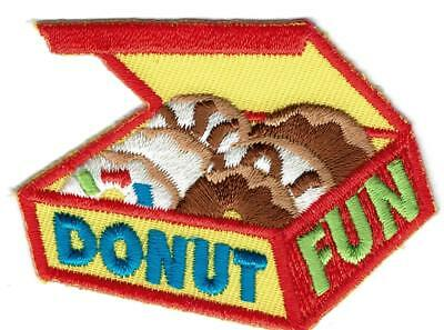 Girl Boy Cub DONUT FUN TOUR shop Making Patches Crests Badges SCOUTS GUIDE Visit
