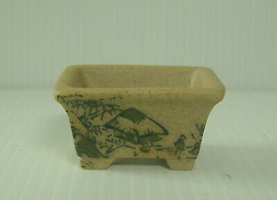 Vintage Tokoname Shinto Bonsai Pot Signed Retired c.1960s hand painted in ink