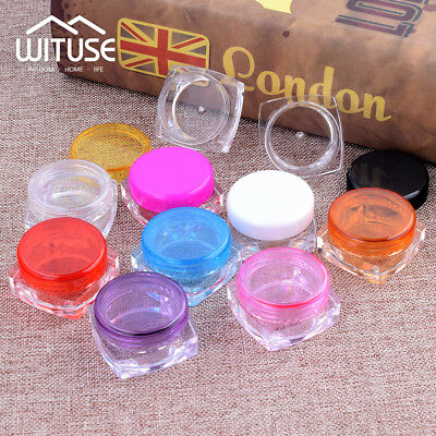 Make Up Case Plastic Sample Bottle Cosmetic Jars Cream Container Empty Pots 3/5G