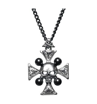 NEW Alchemy Gothic St John's Crystalbone Cross Necklace Pendant (Retired)