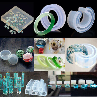 DIY Silicone Mould Round Making Resin Necklace Bangle Bracelet Bead Jewelry Mold