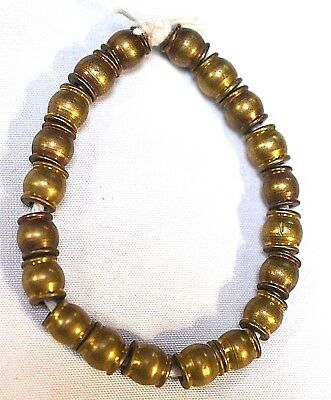 Set Of Newly Handmade African Metal Brass Barrel Beads Collected From Africa