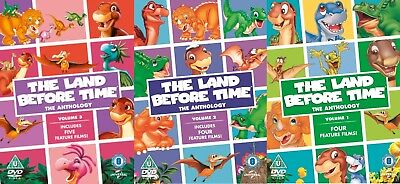 The Land Before Time Anthology Volume 1 + 2 + 3 R4 DVD Movie Collection NEW