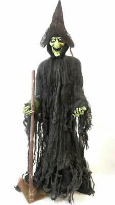 Witch Unisex Huge 5ft 3D Light Up Eyes Standing Hanging Outdoor Halloween Large