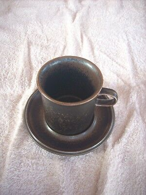 Arabia Ruska Coffee Cup & Saucer & Others Available  Height 90 Mm Diameter 86 Mm