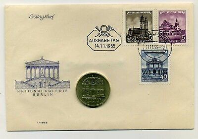 Original DDR Numisbrief/Erstagsbrief mit 5 Mark 1985 Zwinger Nationalgalerie RAR