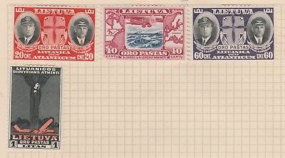 Lithuania Collection Airmail, etc on Old Page, as per scan MH #