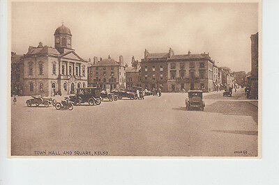 Early vehicles in The Square, Kelso, Roxburghshire