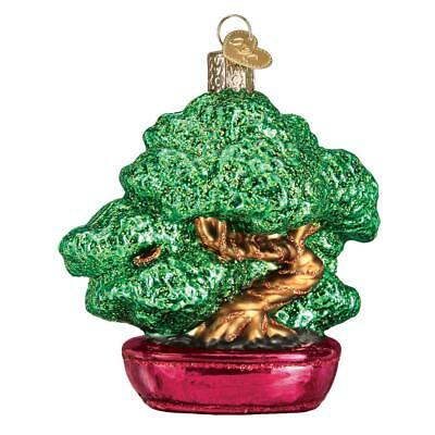 Bonsai Tree Old World Christmas Glass Japanese Style Art Form Ornament Nwt 48039