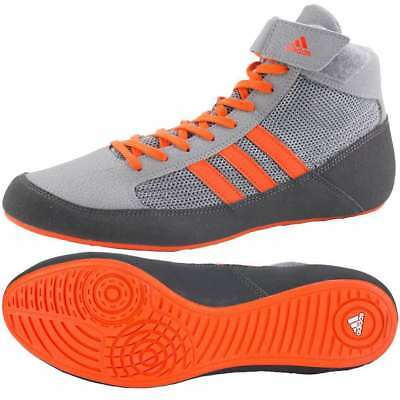 New Adidas Havoc HVC Kids Junior Boxing Wrestling Boots Grey Shoes rrp £50