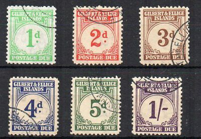 Gilbert and Ellice Islands 1940 Postage Due values to 1s FU CDS