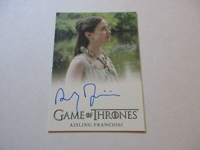Game of Thrones Season 7 - Aisling Franciosi as Lyanna Stark Autograph Card