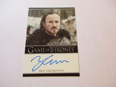 Game of Thrones Season 7 - Ben Crompton as Eddison Tollett Autograph Card