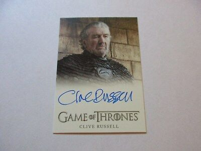 Game of Thrones Season 7 - Clive Russell as Ser Brynden Tully Autograph Card