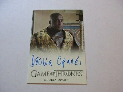 Game of Thrones Season 7 - DeObia Oparei as Areo Hotah Autograph Card