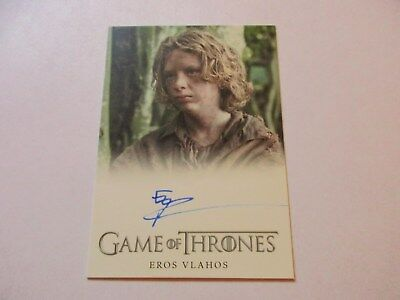 Game of Thrones Season 7 - Eros Vlahos as Lommy Greenhands Autograph Card