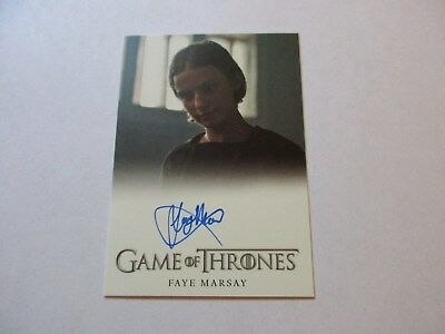 Game of Thrones Season 7 - Faye Marsay as Waif Autograph Card