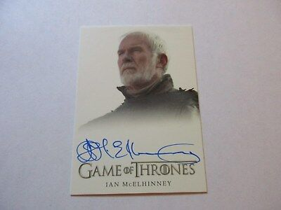 Game of Thrones Season 7 - Ian McElhinney as Ser Barristan Selmy Autograph Card