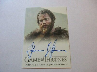 Game of Thrones Season 7 - Johannes Haukur Johannesson Lemoncloak Autograph Card