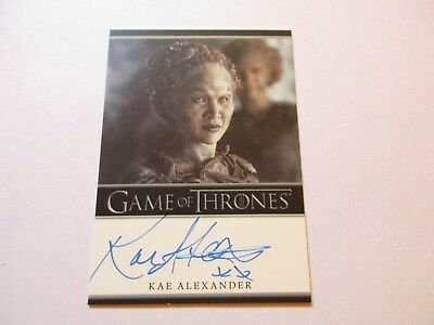 Game of Thrones Season 7 - Kae Alexander as Leaf Autograph Card