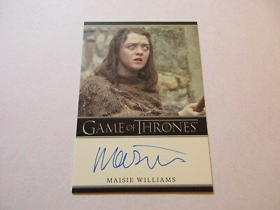 Game of Thrones Season 7 - Maisie Williams as Arya Stark Autograph Card