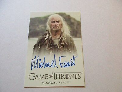 Game of Thrones Season 7 - Michael Feast as Aeron Greyjoy Autograph Card