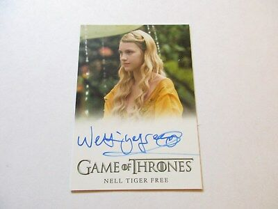 Game of Thrones Season 7 - Nell Tiger Free as Myrcella Baratheon Autograph Card