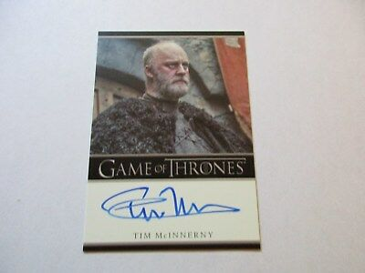 Game of Thrones Season 7 - Tim McInnerny as Robett Glover Autograph Card