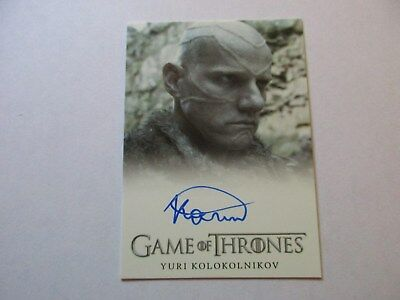 Game of Thrones Season 7 - Yuri Kolokolnikov as Styr Autograph Card