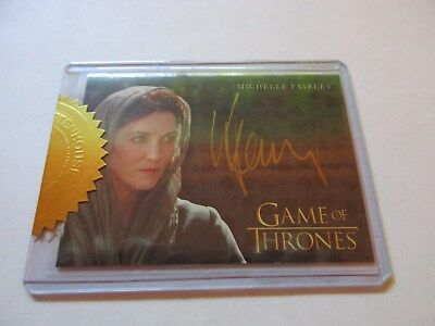 Game of Thrones Season 7 - Michelle Fairley as Catelyn Stark Gold Autograph Card
