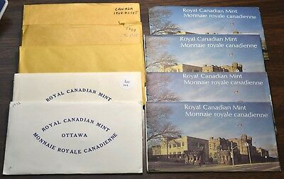 1968-1976 Canada Mint Sets - 9 Sets 1 Of Each Year