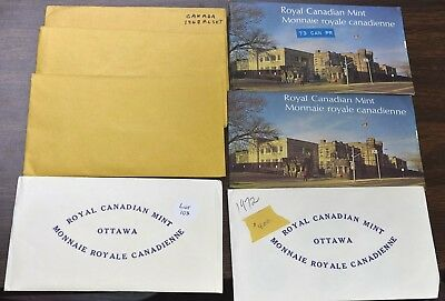 1968-1974 Canada Mint Sets - 7 Sets One Of Each Year