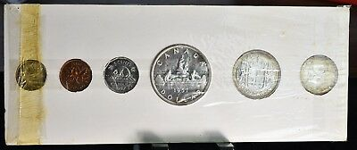 1957 Canada Mint Proof-Like Set - 6 Coins In Orginal Holder