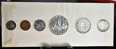 1957 Canada Proof-Like Mint Set - 6 Coins In Original Holder