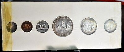 1956 Canada Proof-Like Mint Set - 6 Coin In Original Holder