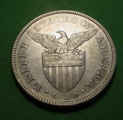 1920 Philippines 50 Centavos - Silver - Lot# 47 - Nice Details- Lot Of Luster