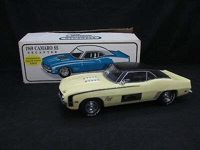 Jim Bean Decanter 1969 Pennsylvania Special Yellow Edition Camaro SS IOB