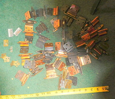 Vintage lot of 50 hinges,cabinet,door,hardware for parts and repair,furniture