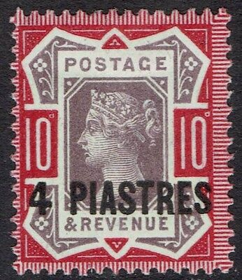British Levant 1887 Qv 4 Piastres On 10D