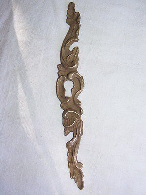 Beautiful escutcheon keyhole antique bronze, Louis XV style, 6 7/8x1in N°1