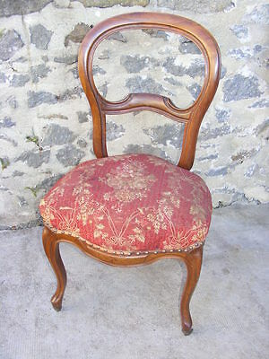 Beautiful Chair Walnut Blond Vintage and Style Louis Philippe