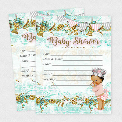 Baby Shower Invitations Girl Cards Invites Princess Decorations