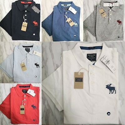 47083d56 NEW ABERCROMBIE A&F Men Big Exploded Icon Relaxed Fit Polo Shirt $54 ...