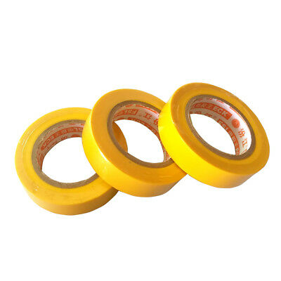 3 Pcs 0.15mm 17mm x 15m PVC Flame Retardant Electrical Tape Home Tool Yellow