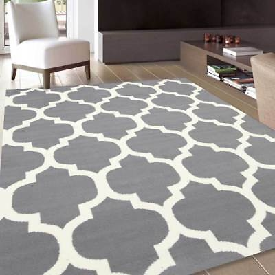 Extra Large Floor Rug Grey Cream Mat Carpet FREE DELIVERY 564