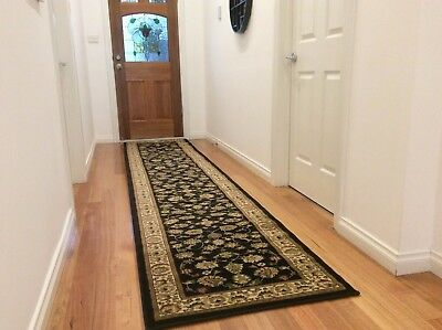 Hallway Runner Hall Runner Rug Modern Black 4 Metres Long FREE DELIVERY