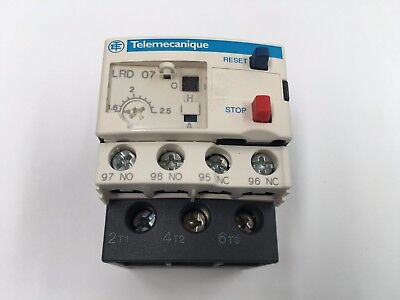 Telemecanique Lrd07 Overload Relay 1.6-2.5A