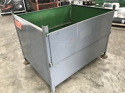 Steel stackable storage bin box stillage Cage Basket metal firewood scrap