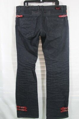Real American Robin'S Jean New Men'S Sz 38In Blue & Red Inseam 37 To Be Wild