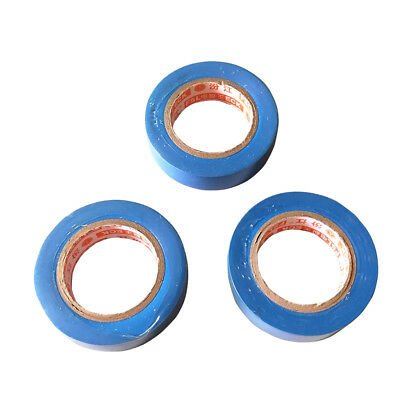3 Pcs 0.15mm x 17mm x 15m PVC Electrical Tape Flame Retardant Tools Blue